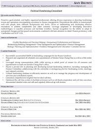 Political Fundraising Consultant Resume Example