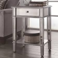 silver glass end table  stealasofa furniture outlet los angeles ca