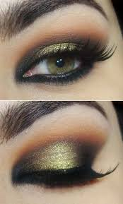 brown and black smokey eye makeup step by step
