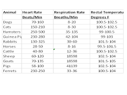 Accurate Animal Blood Pressure Thorough Animal Heart Rate Chart