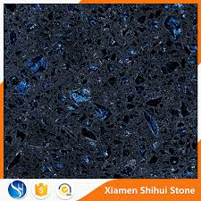 dark galaxy blue quartz countertops artificial stone slab with regard to prepare 9
