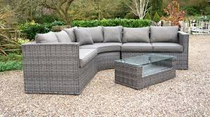 rattan recliner corner sofa set with