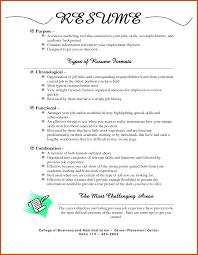 Formats Of Resumes Moa Format