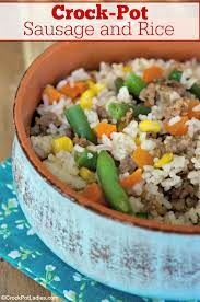 crock pot sausage and rice crock pot