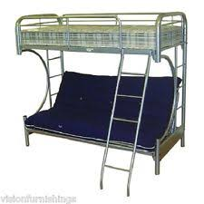metal bunk bed futon. NEW Curved Silver Childrens Futon Bunk Bed 3FT Kids Metal + Mattress N
