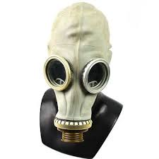 Soviet Russian Ussr Gas Mask Face Respiratory Protection