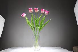 Индиго 5 шт. голландский PU <b>Розовый</b> тюльпан <b>декоративный</b> ...