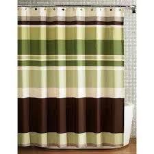 Fabric Shower Curtain Jade Brown Beige
