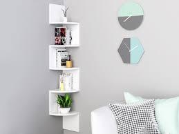 nemi 5 tier wall mounted corner shelf