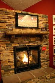 attractive rustic ga fireplace insert beautiful decoration stone log vented idea mantel design surround ventless looking corner