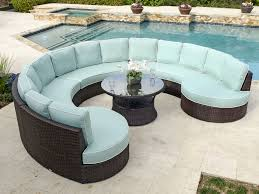comfortable patio furniture. Furniture Design Ideas Circular Outdoor Near With Pool Comfortable Soft Blue Color Round Glass Coffee Table Patio