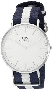 amazon com daniel wellington men s 0204dw glasgow stainless steel amazon com daniel wellington men s 0204dw glasgow stainless steel watch striped nylon band daniel wellington watches
