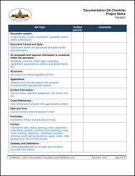 Sample Checklist In Word Qa Format Omfar Mcpgroup Co