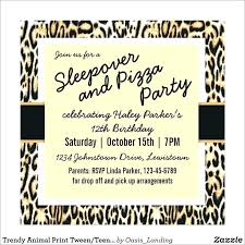 Leopard Print Invitations Templates Animal Print Birthday Party