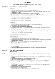 Housekeeping Resume Resumes Jobs Samples Manager Examples