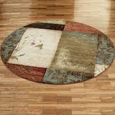 image of 8 foot round rug design