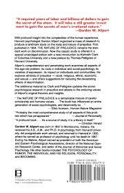 The Nature Of Prejudice 25th Anniversary Edition Gordon W Allport