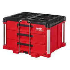 milwaukee packout 3 drawer tool box 48