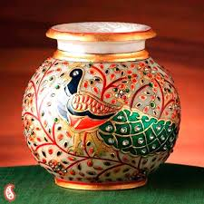 Pot Decoration Designs Pot Decoration Design Images Buy Hand Painted Peacock Marble With 10