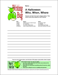 writing bug a halloween who when where education world writing bug a halloween who when where