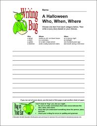 writing bug a halloween who when where education world writing bug a halloween who when where