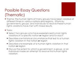 regents review what you should know ppt   human rights violation possible essay questions thematic