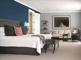 image of blue and grey bedroom color schemes