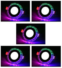 Double Color Led Panel Light 3 3 Watt Double Color Round Jelly Led Panel Light Side 4d Effect Light White Pgb Pack Of 5
