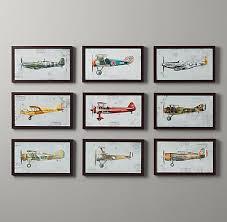 vintage planes wall art