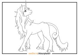 Kleurplaten Paard Met Hoorn