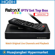Aston X Android IPTV Box Japanese Pack Watch Japan Live Channels 7 Days  Playback VOD Movies and TV Dramas New iHome|Set-top Boxes
