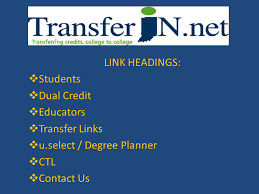 Transferin Indianas Statewide Transfer Initiative Ppt Download