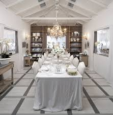 white dining table shabby chic country. View In Gallery An All-white Dining Room Captures The Festive Winter Magic [Photography: Elad Gonen White Table Shabby Chic Country C