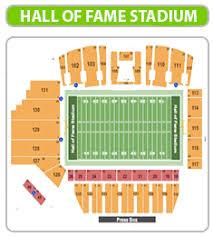 59 Most Popular Tom Benson Hall Of Fame Stadium Seating Chart