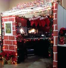 office decorating ideas for christmas. Exotic Christmas Office Decoration Cabin For Best Decorated Cubicle Contest Decorating Ideas Work
