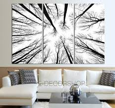 chic large wall decorations living room: large wall art canvas prints dry tree branches wall art forest