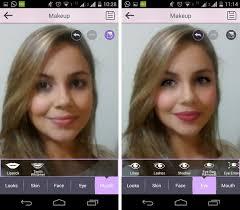 antes e depois da edição no youcam makeup foto reprodução marcela