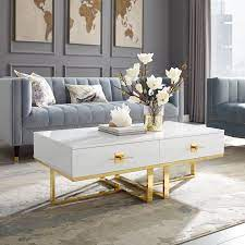 gold coffee tables with trendy and