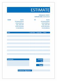 Estimates Templates Free Free Estimate Templates Download In Word Excel Pdf Invoice Genius