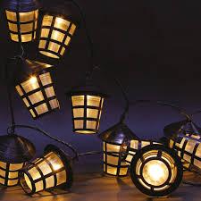 warm white led outdoor lantern string lights