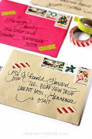 How To Address A Christmas Card Addressing Christmas Envelopes
