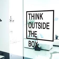 outside the box office. Office Wall Graphics Think Outside The Box Quotes Decals Art Creative Sticker F