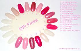 Pink Opi Nail Polish Pinks Colour Wheel Chart Opi Pink