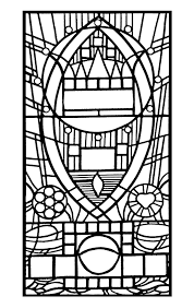 Free Coloring Page Coloring Adult Stained Glass De L Apparition