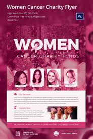 fundraiser flyer template 31 psd eps ai format attractive women cancer charity flyer template