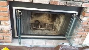 frameless glass fireplace doors. Custom Glass Fireplace Doors Frameless