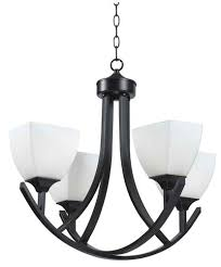 hunter lighting archer 4 light oil rubbed bronze contemporary chandelier at menards