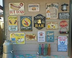 factory supply custom wall decor vintage tin signs metal plaque tin tacker