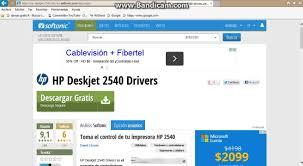 descargar hp deskjet 2540 drivers