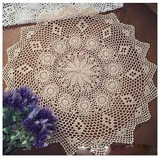 wshine vintage crochet round table cover lace doilies home decor tablecloth 28 7 beige